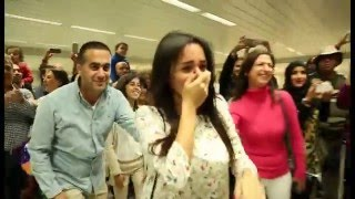 Download Lagu Bruno Mars Marry You Flash Mob Proposal Jacob and Eliane - Beirut Rafic Hariri International Airport Gratis STAFABAND