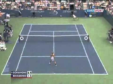 Le tweener de Schiavone - US Open -