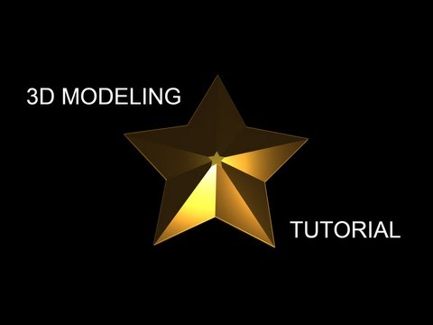 Modeling and texturing star tutorial in 3ds max - beginner