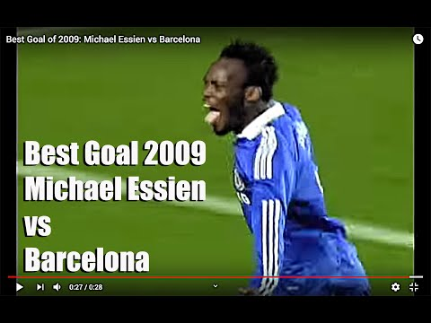 Best Goal of 2009: Michael Essien vs Barcelona