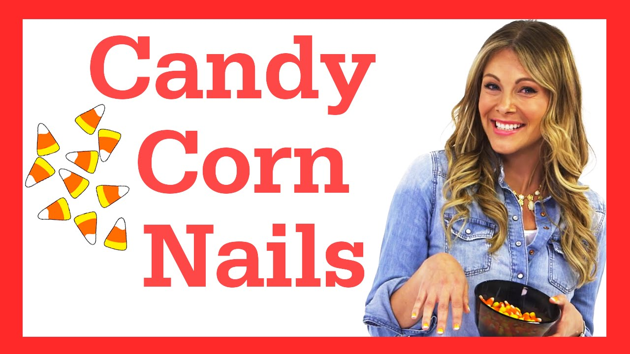 Candy Corn Nails Tutorial Candy Corn Halloween Nail