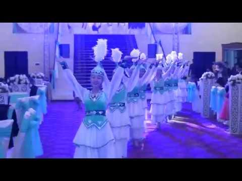 Синхронный Танец казахском свадьбе