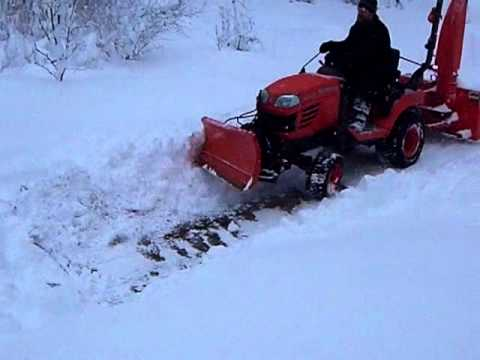 Kubota BX24 Snow Plow How To Save Money And Do It Yourself