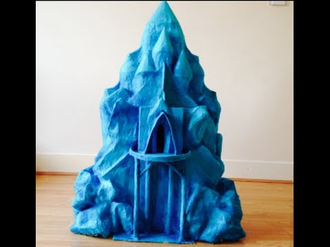 How To Make Queen Elsa S Ice Castle From The Frozen Movie In Full Youtube