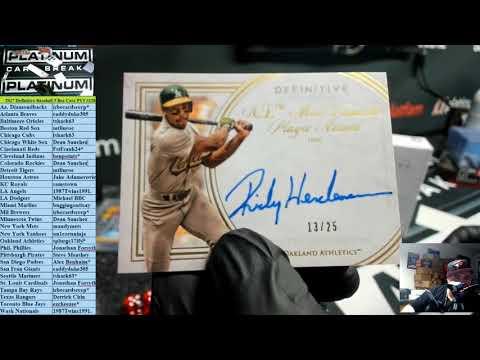 2017 Definitive Baseball 3 Box Case PYT #126