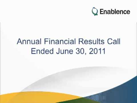 Enablence Annual Financial Results Call