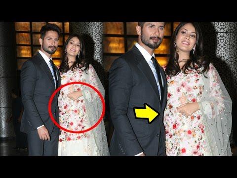 Shahid Kapoor With Pregnant Wife Meera Rajput At Preity Zinta's Wedding Reception