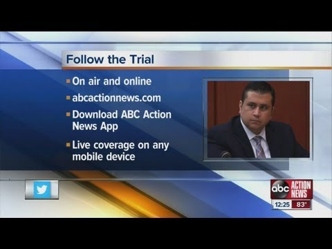 Zimmerman trial down to 40 potential jurors - watch live on your mobile device