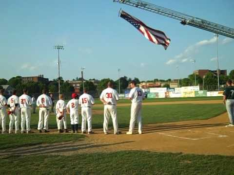 A short clip of the National Anthem at opening day at Mackenzie Field for the Holyoke Blue Sox.