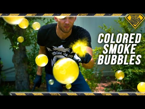 How to Make Colored Smoke-Filled Bubbles