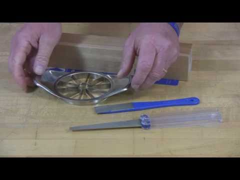 Video of Diafold® Flat File or Mini-Hone® Sharpener for your Apple Corer