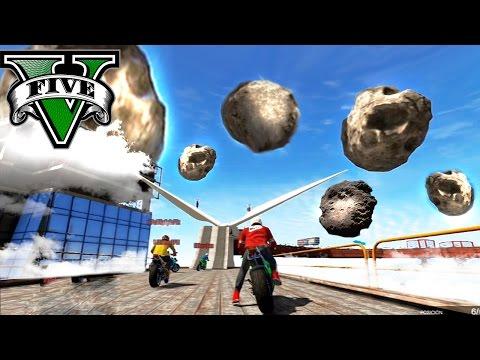 GTA V Online - LA CARRERA EN EL CIELO!! OMG XDD METEORITOS!! - NexxuzHD