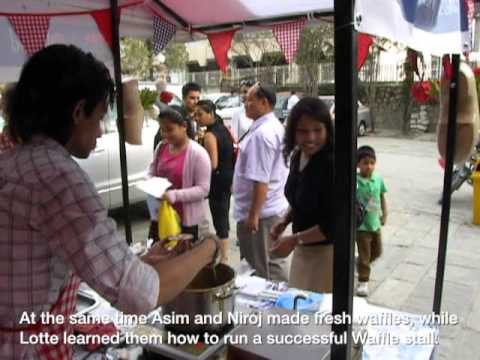 The Famous Dutch Syrup Waffle (stroopwafel) Made And Sold In Nepal video