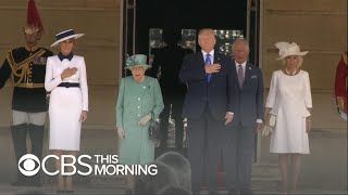 Trump arrives at Buckingham Palace for UK visit