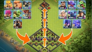 ALLE TRUPPEN vs. GANG DES TODES! || CLASH OF CLANS || Let