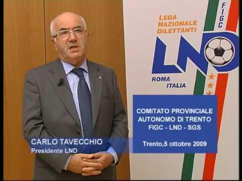 FIGC Trentino CARLO TAVECCHIO
