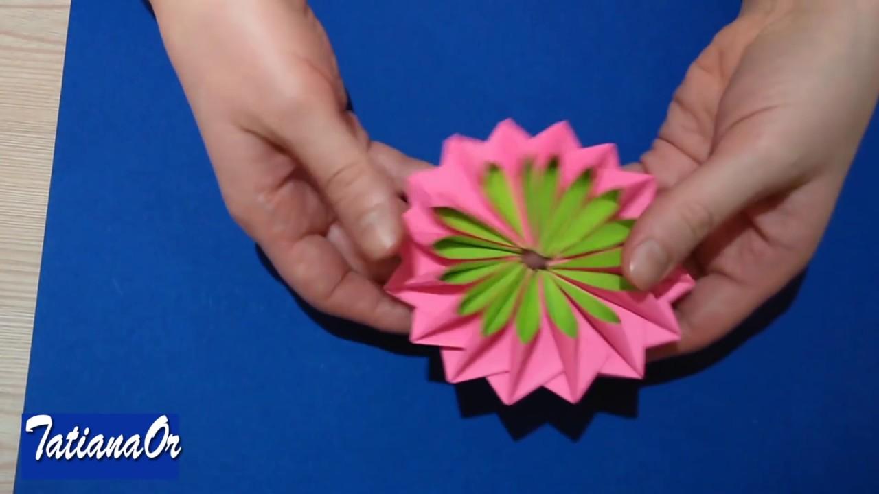 Цветок из бумаги на подарки 150
