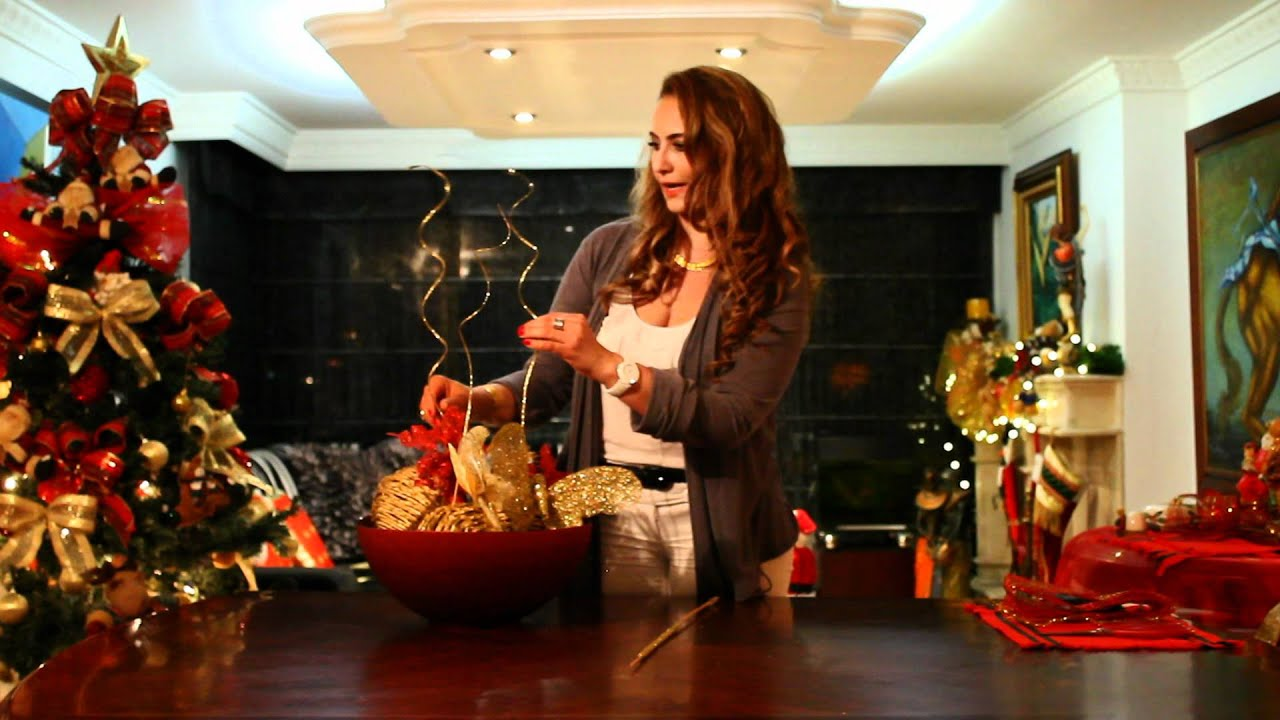 Marcela estrada tv decora la mesa para navidad youtube - Adornos para la pared ...