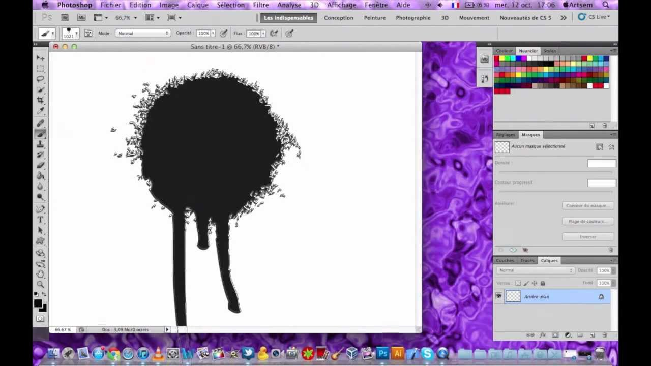 Comment cr er un brush a partir d 39 une image pour photoshop for Effet miroir photoshop cs5