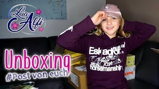 Lia & Alfi - Unboxing - Community-Pakete auspacken