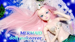 [Doll Repaint] 도리스돌을 시원한 바닷속 인어 공주로 꾸며주기- 60cm 구체 관절 인형 리페인팅 doll makeover mermaid/딩가의 회전목마 (DINGA)