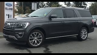 2018 Ford Expedition Limited Max W/ Trailer tow Pkg, Backup Camera, Seats 8 Review  Island Ford
