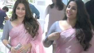 Vidya Balan Hot In Pink Saree & Tight Blouse