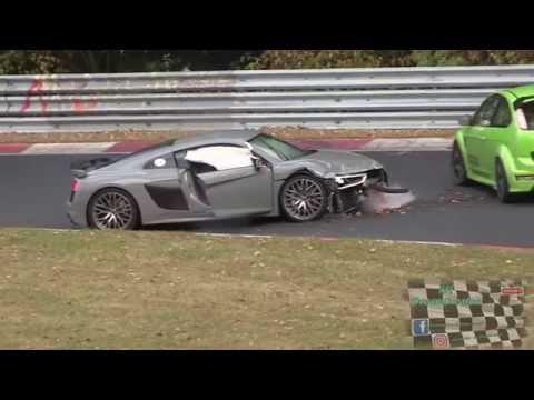 HARD CRASH Audi R8 Nordschleife Nürburgring 15.10.2016 Touristenfahrten