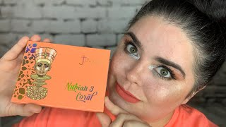 Juvia's Place Nubian 3 Coral Eyeshadow Palette - Use Every Color Challenge
