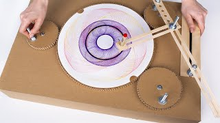 DIY Spirograph Drawing Machine From Cardboard