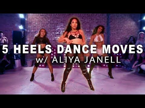5 SEXY HEELS MOVES    Aliya Janell Dance Tutorial