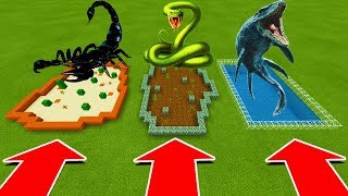 DO NOT CHOOSE THE WRONG FARM IN Minecraft PE (Scorpion, Anaconda, and Mosasaurus)
