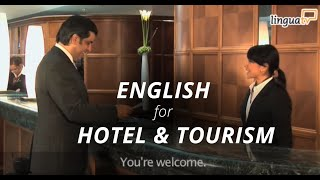 """English for Hotel and Tourism: """"Checking into a hotel"""" by LinguaTV"""