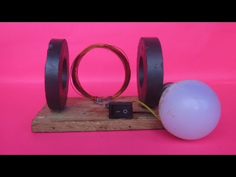 Free energy light bulb LED with magnets easy at home - Science projects 2018 DIY thumbnail