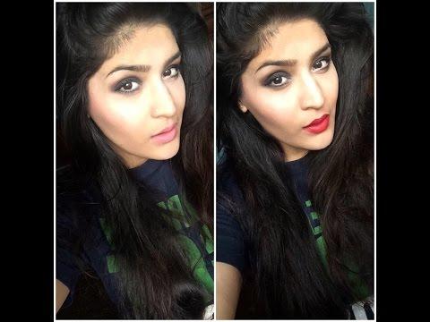 Beginner's basic smokey eye for Indian skin-tutorial with 2 lip options!