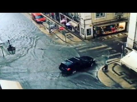 Lisbon hit by serious flooding after torrential rain