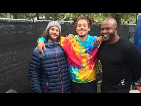 Torey Pudwill and Kweku Collins Skate LIVE into Lollapalooza 2017