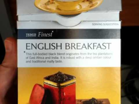 Tescos Finest Breakfast 50 Tea Bags 125g £1.29 Review.mp4