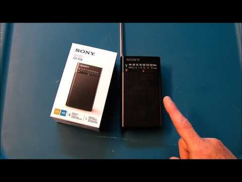 Sony ICF P26 FM AM Pocket portable transistor radio product review
