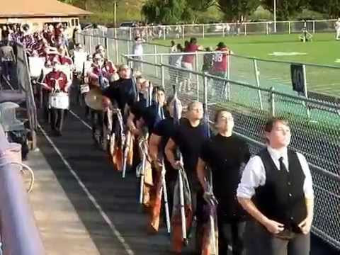 Swain County High School Cheerleaders and Marching Band 9-5-14