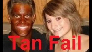 Funny Tan Fail Compilation (Spray Tan Fails) - DDOF
