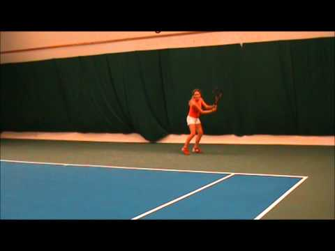 Lina Hallgren Tennis College Recruiting Video 2013