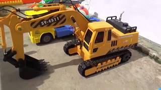Xe Múc Cẩu  Điều Khiển Từ Xa Múc Cát | excavator Toy Video for Kids |  Bo ToysReview