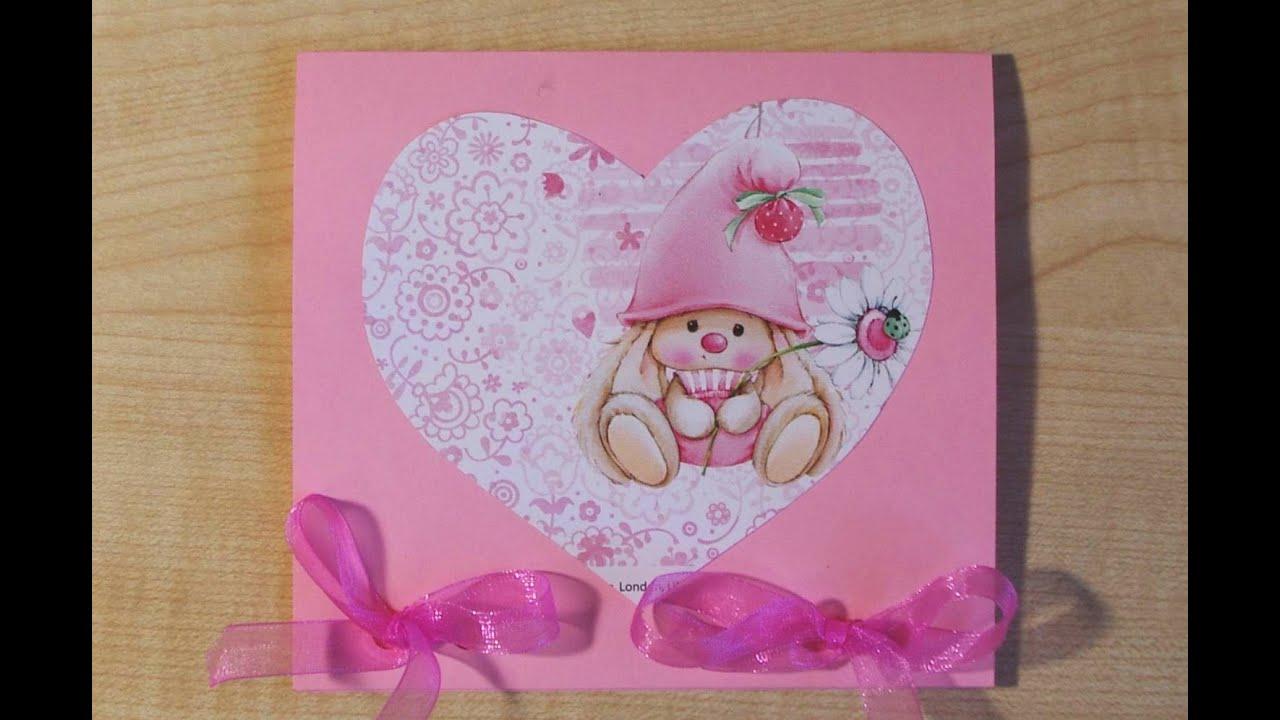 Как сделать открытку на валентина 391
