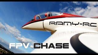 VIPERJET MK2 RC airplane chase flight, close call landing