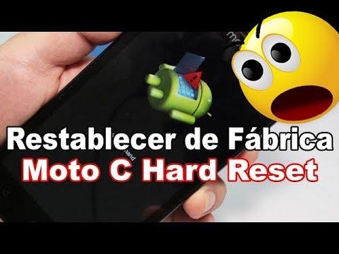 Motorola Moto C Hard Reset Restablecer dispositivo al estado Fábrica