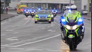 [Ungeschnitten] Polizeieskorte Bundespräsident in Aurich