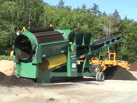 Roto-Screen processing wet black loam & compost in New Hampshire