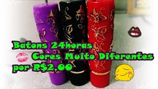 Batons 24h, Cores Diferentes por 2,00 -  Lu Collection