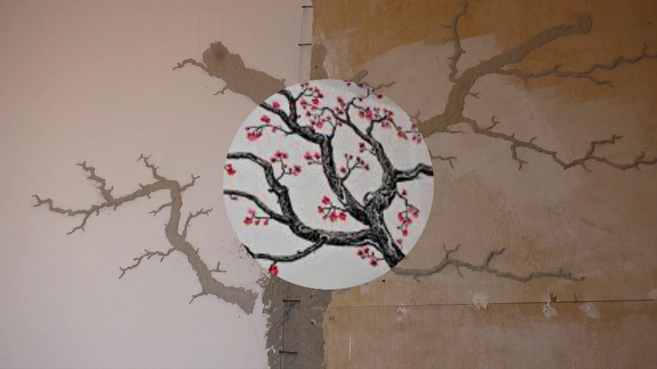 Дерево на стене из папье-маше своими руками 69